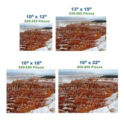 Winter at Bryce Canyon Landscape Wooden Jigsaw Puzzle