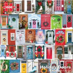 Holiday Doors Snow Jigsaw Puzzle
