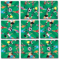 Soccer Sports Non-Interlocking Puzzle