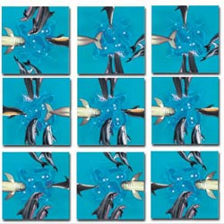 Dolphins Under The Sea Non-Interlocking Puzzle