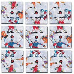 Hockey Sports Non-Interlocking Puzzle