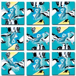 Penguins Birds Non-Interlocking Puzzle