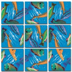 Freshwater Fish Wildlife Non-Interlocking Puzzle
