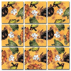 Turtles Under The Sea Non-Interlocking Puzzle