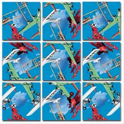 Vintage Airplanes Planes Non-Interlocking Puzzle