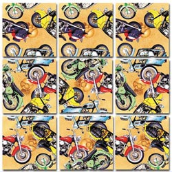 Classic Motorcycles Motorcycles Non-Interlocking Puzzle