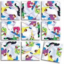 Skiing Sports Non-Interlocking Puzzle