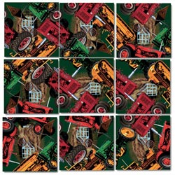 Vintage Tractors Vehicles Non-Interlocking Puzzle