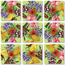 American Native Flowers Mother's Day Non-Interlocking Puzzle