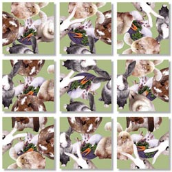 Bunnies Animals Non-Interlocking Puzzle