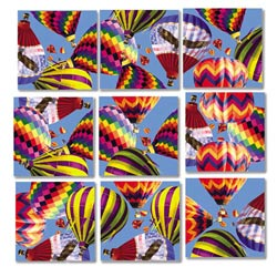 Hot Air Balloons Balloons Non-Interlocking Puzzle