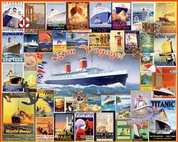 Bon Voyage Collage Titanic Jigsaw Puzzle