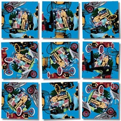 Antique Autos Nostalgic / Retro Non-Interlocking Puzzle