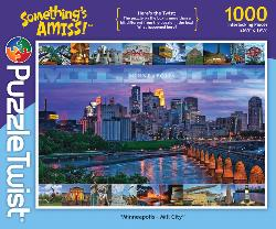 Minneapolis - Mill City Skyline / Cityscape Jigsaw Puzzle