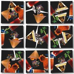 Cocktails Adult Beverages Non-Interlocking Puzzle