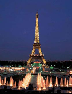 Eiffel Tower, Paris, Neon Eiffel Tower Jigsaw Puzzle
