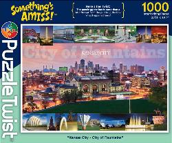 Kansas City - City of Fountains Skyline / Cityscape Jigsaw Puzzle