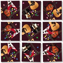 Guitars Music Non-Interlocking Puzzle