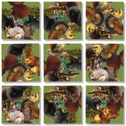 Squirrels Other Animals Non-Interlocking Puzzle