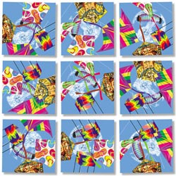 Kites Balloons Non-Interlocking Puzzle