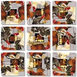 Roosters Farm Animals Children's Puzzles