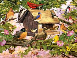 Breakfast Club Birds Jigsaw Puzzle