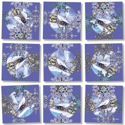 Snowflakes Snow Non-Interlocking Puzzle
