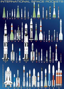 International Space Rockets Pattern / Assortment Jigsaw Puzzle