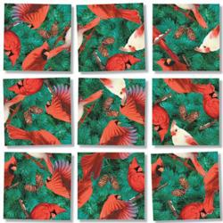 Cardinals Nature Non-Interlocking Puzzle