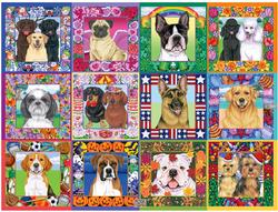 A Year of Dogs Flowers Jigsaw Puzzle