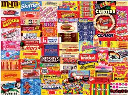Vintage Candy Wrappers Collage Large Piece