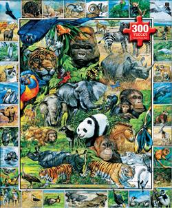 Endangered Species - Scratch and Dent Collage Children's Puzzles