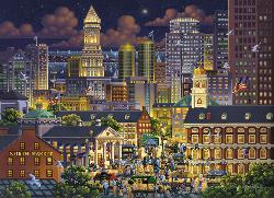 Boston Market Skyline / Cityscape Jigsaw Puzzle