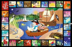 ABC Pirate Cove Alphabet Jigsaw Puzzle