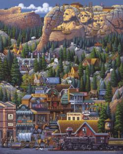 Mount Rushmore (The Black Hills) Folk Art Jigsaw Puzzle
