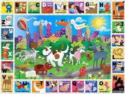 Central Bark ABCs Language Arts Jigsaw Puzzle