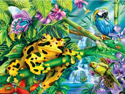Rainforest Friends Waterfalls Jigsaw Puzzle