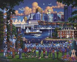 Stanley Park Seascape / Coastal Living Jigsaw Puzzle