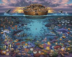 Noah's Ark Under the Sea Americana & Folk Art Jigsaw Puzzle