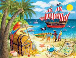 Pirate Treasure Seascape / Coastal Living Jigsaw Puzzle