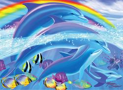 Dolphin Rainbow Dreams Under The Sea Jigsaw Puzzle
