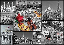 Vienna (City Collage) Collage Jigsaw Puzzle