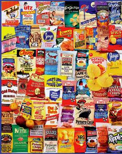 Potato Chips Collage Jigsaw Puzzle