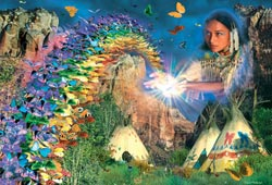 Butterfly Rainbow Native American Jigsaw Puzzle