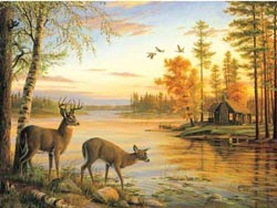 Quiet Evening Outdoors Jigsaw Puzzle