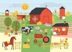 Farm Cartoons Puzzle Pouch