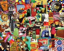 Retro, Retro, Retro Collage Jigsaw Puzzle