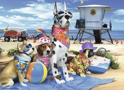 No Dogs on the Beach Dogs Jigsaw Puzzle