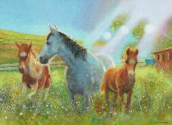 Equine Pasture Baby Animals Children's Puzzles