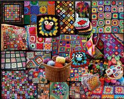 Granny Squares Collage Jigsaw Puzzle